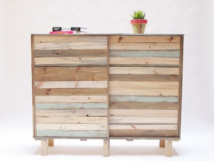 Sideboard hand-made with reclaimed wood.