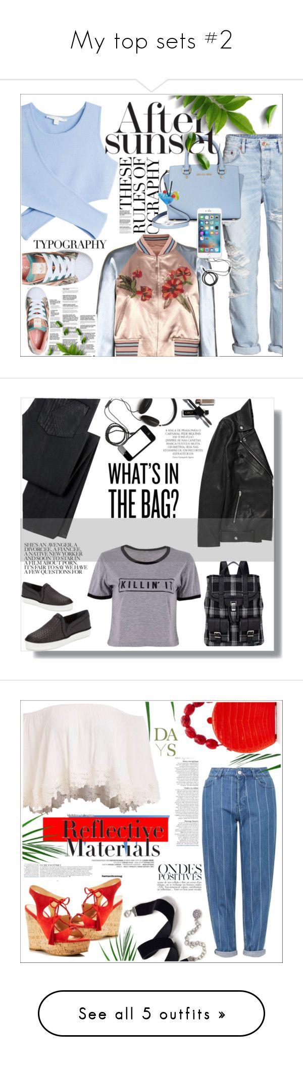 """""""My top sets #2"""" by olx-kz ❤ liked on Polyvore featuring Valentino, Jonathan Simkhai, H&M, Molami, Michael Kors, adidas, K Karl Lagerfeld, T By Alexander Wang, Stuart Weitzman and Proenza Schouler"""