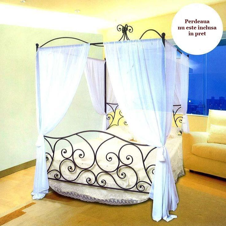 Patul cu baldachin Oriental, accent exotic într-un interior modern.