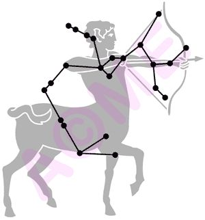 Sagittarius constellation. For in depth info on Sagittarius personality & characteristics go to http://www.buildingbeautifulsouls.com/zodiac-signs/western-zodiac/sagittarius-sign-traits-personality-characteristics/