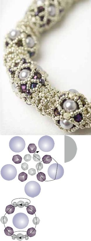 Download a PDF of Instructions From the Book to Make Sabines Purple Rope Necklace. | Scribd