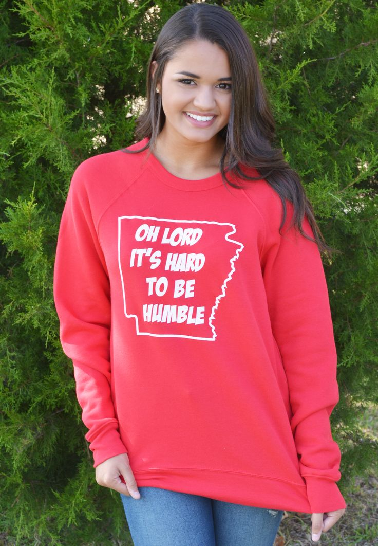 hey y'all it's hard to be humble sweatshirt-red