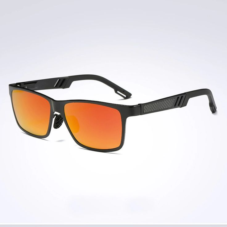 Mens Sunglasses Metal Frame Design Classic Leisure Polarized Glasses Vintage (RED ORANGE) - intl | Lazada.co.th