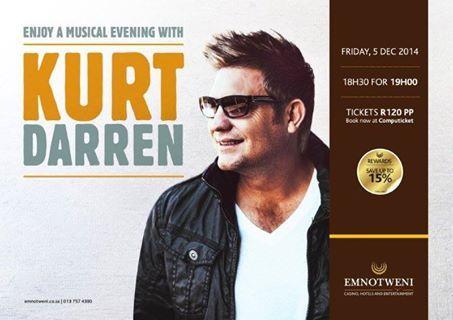 Enjoy a music evening with Kurt Darren