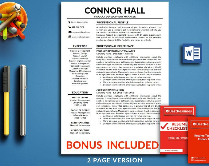 134 best Professional Resume Templates images on Pinterest