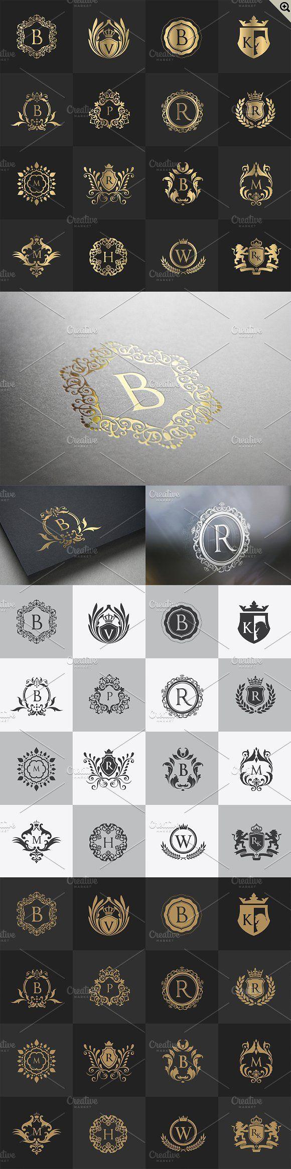 32 Luxury logo set by Super Pig Shop on @creativemarket