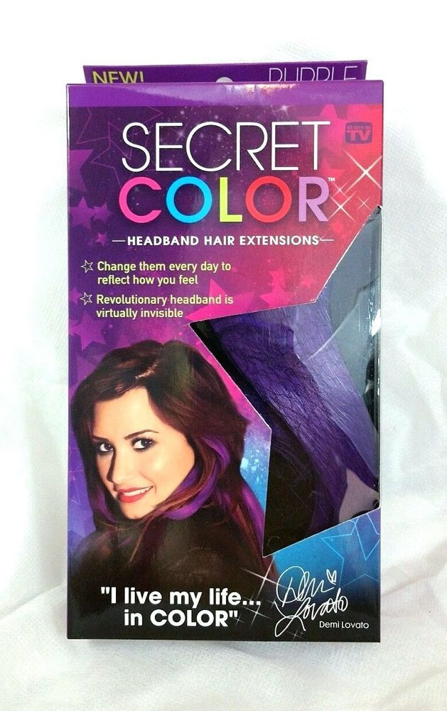 Secret Color Headband Hair Extensions Purple Demi Lovato NEW