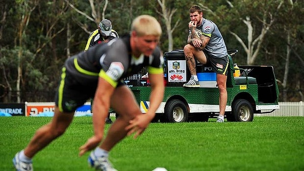 2013 Canberra Raiders Preseason training: Josh Dugan