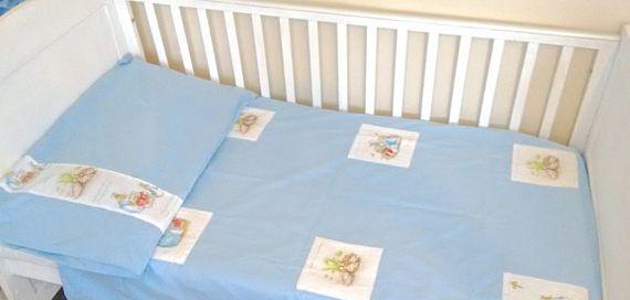 Beatrix potter toddler duvet set blue pink yellow