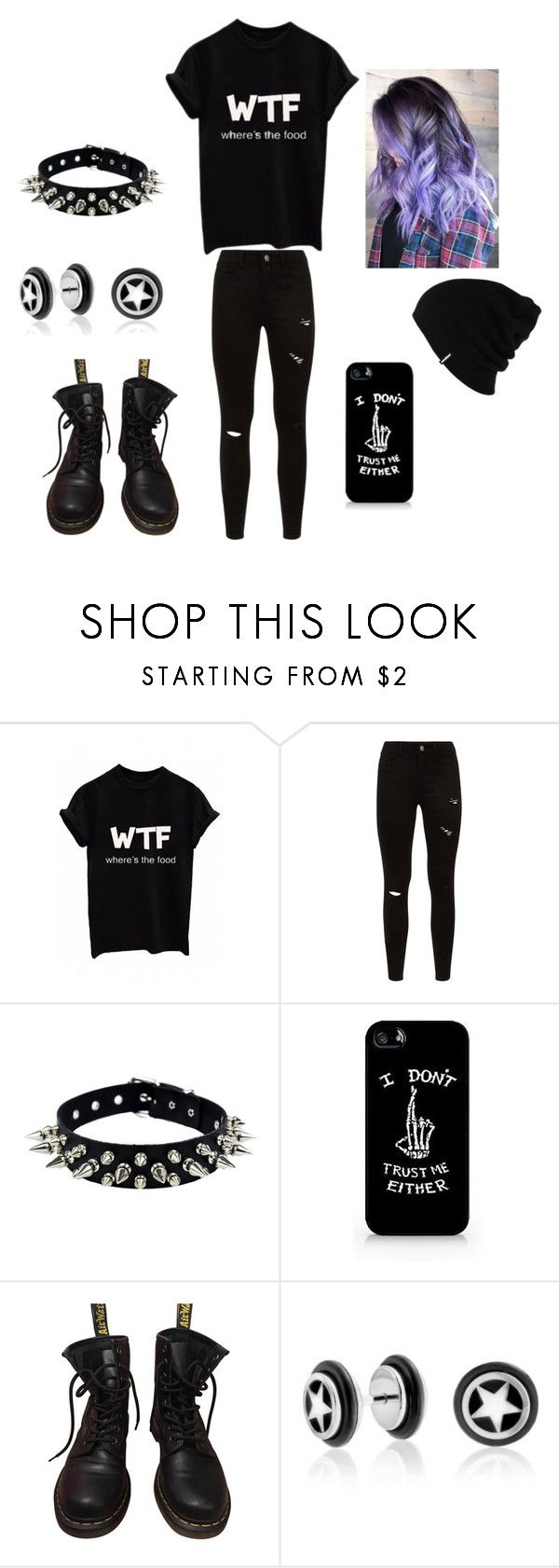 """""""Bez naslova #58"""" by blackisforever ❤ liked on Polyvore featuring WithChic, Dr. Martens, Bling Jewelry and Patagonia"""
