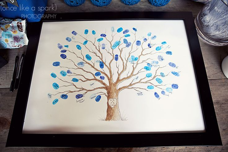 "Fingerprint tree ""guestbook"" - Dana + Jake::DIY Savannah Wedding at Old Fort Jackson"