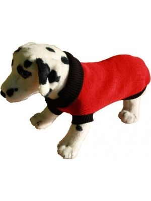 Sweterek to doskonałe rozwiązanie w chłodne dni dla piesków krótko strzyżonych, lub ogólnie krótkowłosych. Ubranko bardzo dobrze dopasowuje się do ciała pupila nie krępując jego ruchów.