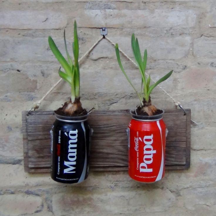 M s de 25 ideas incre bles sobre objetos con material for Jardin vertical reciclado