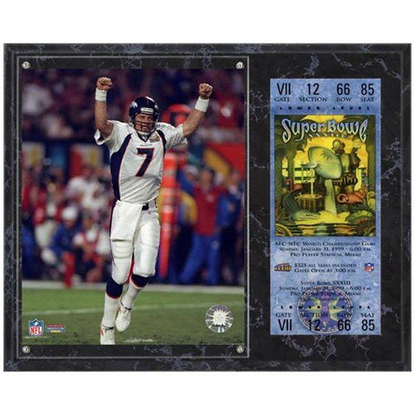 "John Elway Denver Broncos Fanatics Authentic 12"" x 15"" Super Bowl XXXIII Sublimated Plaque with Replica Ticket - $39.99"