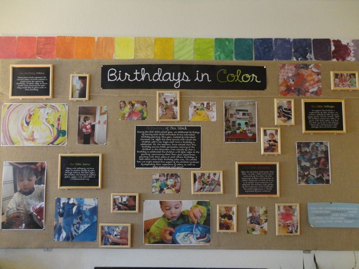 This is an example of how a group of teachers displayed photos, samples of work, and brief descriptions surrounding a year-long research project with children. This style is more formal (developed after all experiences had taken place) rather than raw (developed on an ongoing basis as experiences are taking place) and speaks to both children and adults as the audience.
