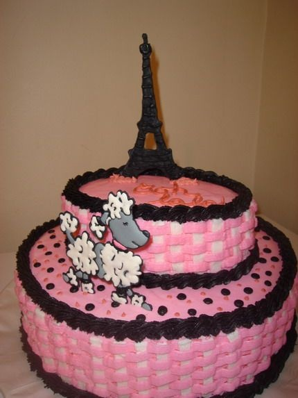 Pink Poodle In Paris This Was A Baby Shower Cake. Nursery Theme Was Pink  Poodle In Paris.