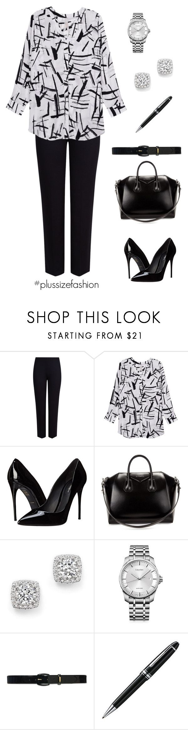 """01.21.16"" by socalosukity ❤ liked on Polyvore featuring M&S Collection, Melissa McCarthy Seven7, Dolce&Gabbana, Givenchy, Bloomingdale's, Calvin Klein, Lauren Ralph Lauren, Montblanc and plus size clothing"