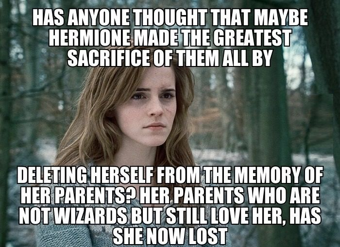 #Hermione #HarryPotter - but she eventually returns her parents' memories