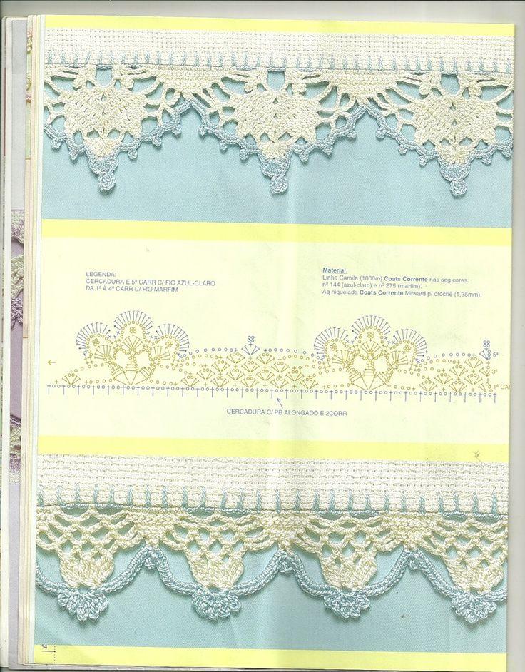 crochet border: barradinhos   make handmade, crochet, craft