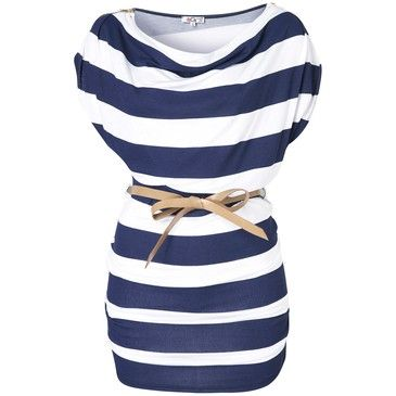 I loved this: Tees, Style, Clothes, Dresses, Belt, Stripes