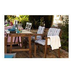 ASKHOLMEN Table et 4 chaises à accoudoirs - IKEA - 110E cu pernute