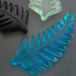 Cast Glass Silver Fern