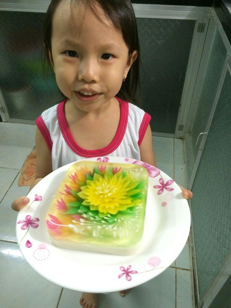 3D jelly art cake