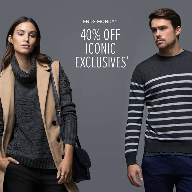 Get 40% off on selected iconic-exclusive clothing, shoes & apparel.