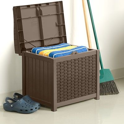 Wicker Storage Seat - Sheds & Storage - Suncast® Corporation