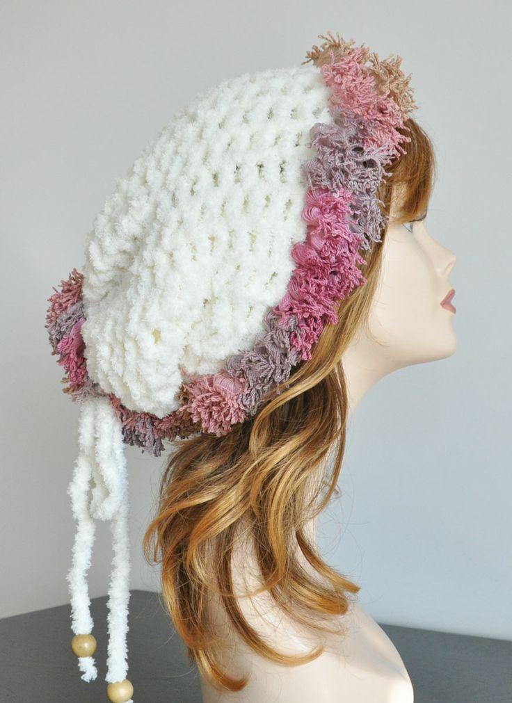 Crochet Ruffle Hat