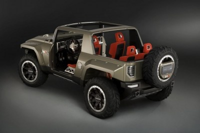 2012 Hummer H4 Review, Specs, Price, Picture    2012 Hummer H4 – Rear Angle View