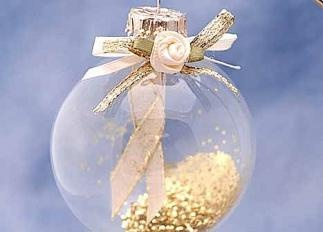 """Gift for Mom - childhood cancer awareness ribbon ornament - and would match her """"classy tree""""!"""