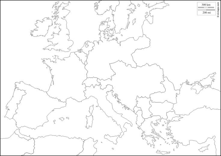 Europe 1914: free map, free blank map, free outline map