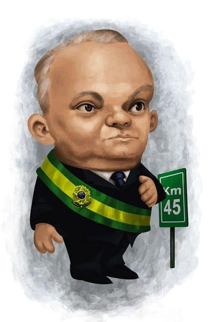 #Caricatura de José #Linhares, presidente do #STF, assumiu a presidência do Brasil com a incumbência de realizar eleições gerais no país, 29/10/1945-31/01/1946.