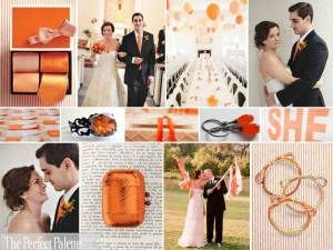 Orange Wedding Palette - from Colour Meanings post