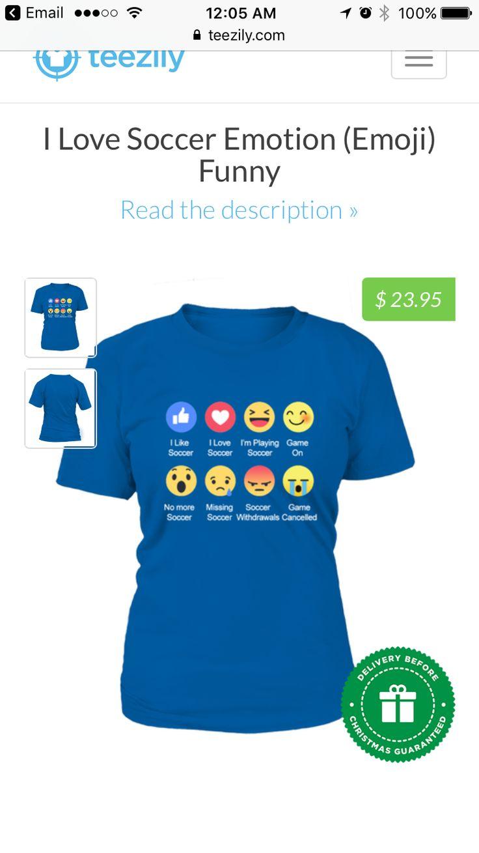 Soccer Emoji t-shirt