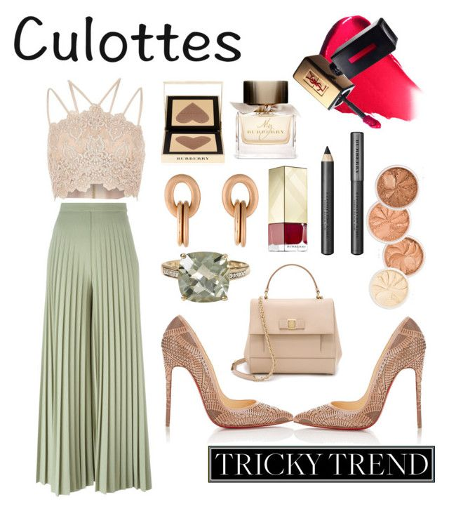 Untitled #151 by poorvashikalra on Polyvore featuring polyvore, fashion, style, Givenchy, Christian Louboutin, Salvatore Ferragamo, Effy Jewelry, Roberto Coin, Burberry, River Island, clothing, TrickyTrend and culottes
