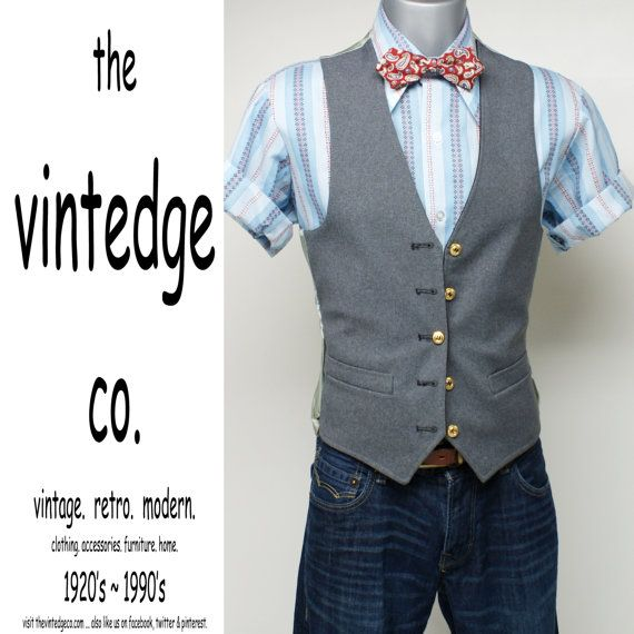 vintage // mens rockabilly blue atomic striped by thevintedgeco, $33.00