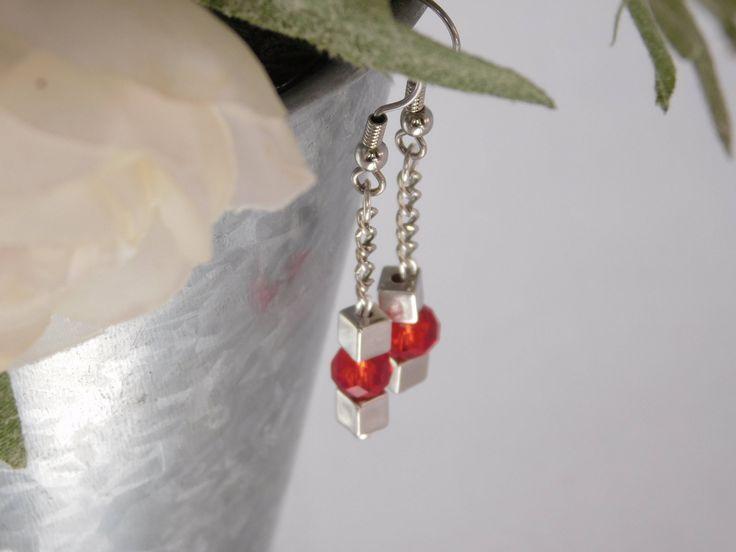 A personal favorite from my Etsy shop https://www.etsy.com/listing/567516523/red-dangle-earrings-beaded-earrings