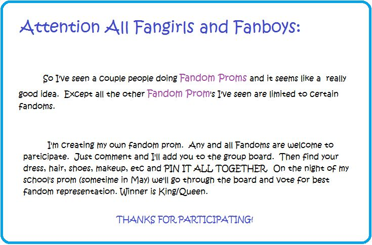 This is on my fangirling university board and please join! If u can, pinto the most popular board. Thanks.