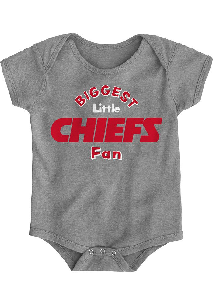 pretty nice bd557 9df91 Kansas City Chiefs Baby Grey Biggest Little Fan Short Sleeve ...