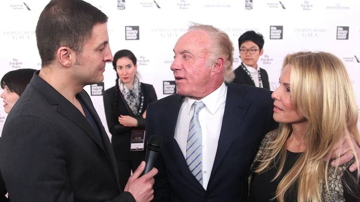 "Actor James Caan talks with Arthur Kade about working with director Rob Reiner when making ""Misery"" on the red carpet of the Film Society of Lincoln Center's Chaplin Award gala where Reiner was honored."