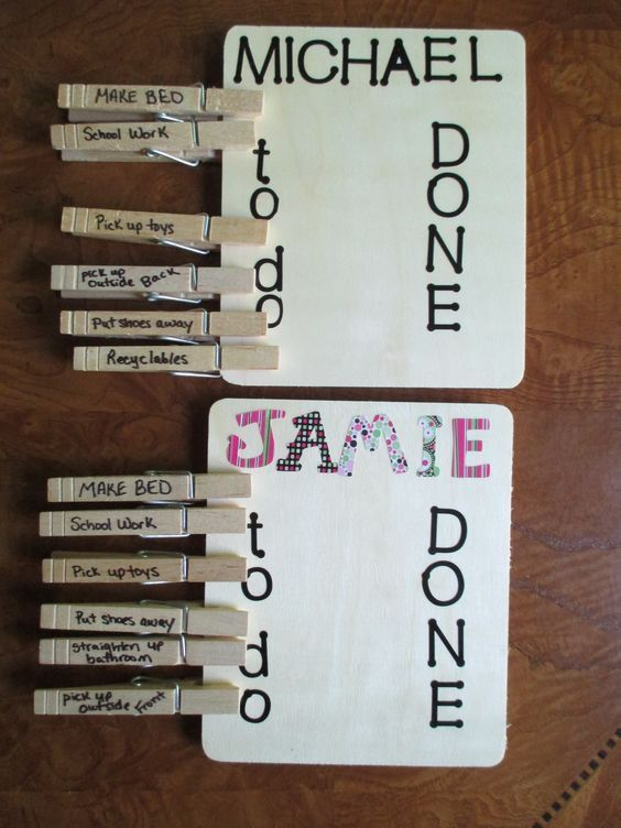 Very Simple And Easy Diy C Chart Ideas For Kids Simply Move The Clothespin From To Do Done When Their Cs Are