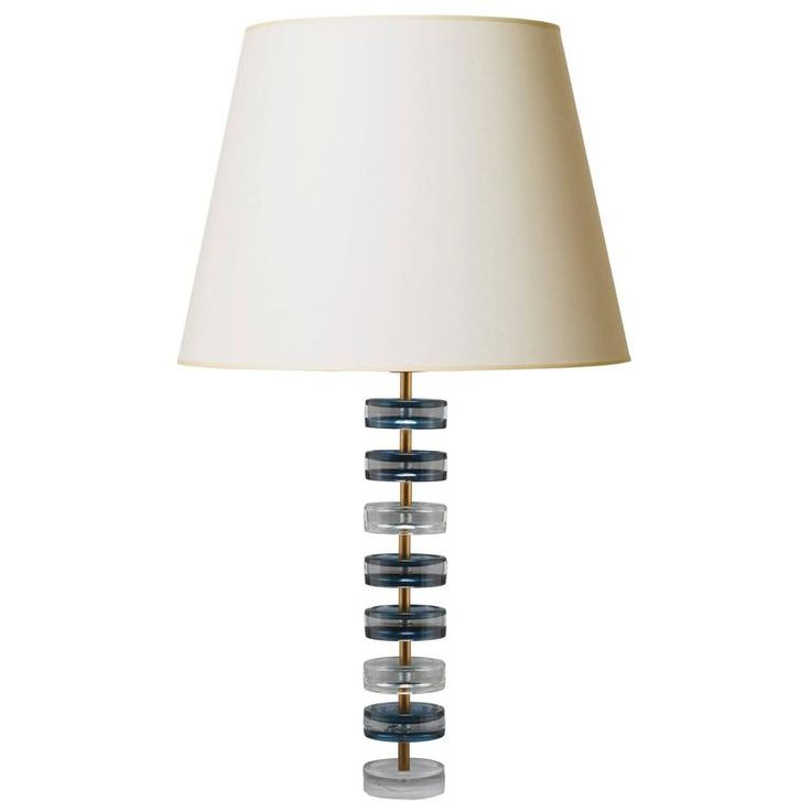 Rare Tall Table Lamp with Smoky Blue Accents by Carl Fagerlund | From a unique collection of antique and modern table lamps at https://www.1stdibs.com/furniture/lighting/table-lamps/