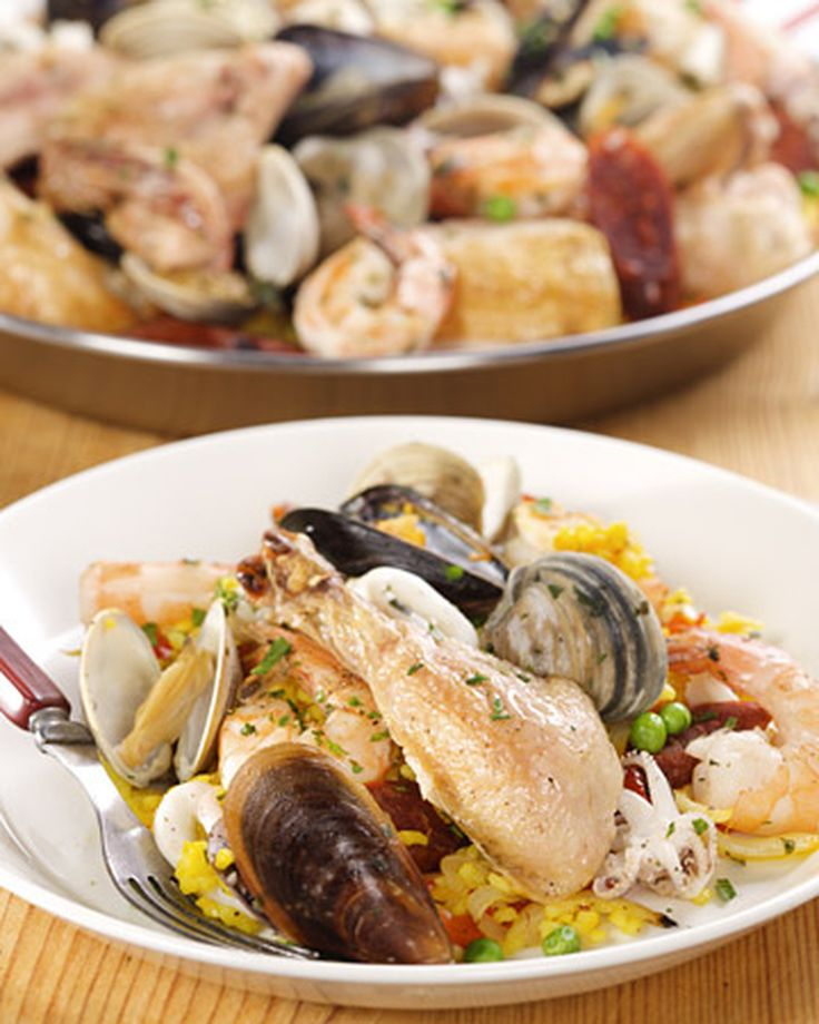"""This delicious paella recipe is from """"Top Chef"""" Hosea Rosenberg of Jax Fish House."""