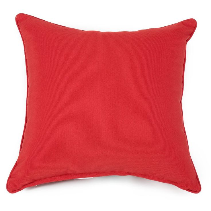 Set of 2 Coral Coast Classic 20 x 20 in. Outdoor Toss Pillows - Brick Red - M015-1-AFS047-BRICK RED