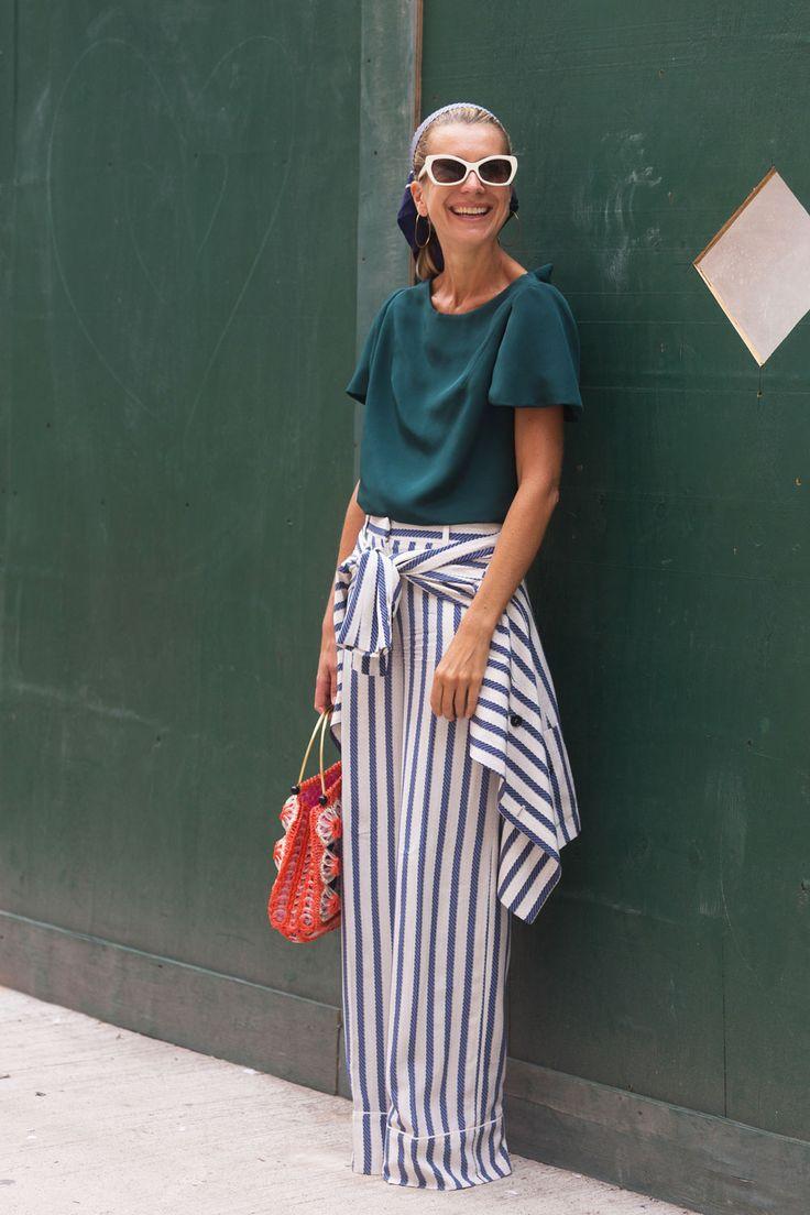 striped fab. NJ in Paris. #NatalieJoos