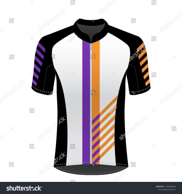 Cycling Jersey Mockup Tshirt Sport Design Stock Vector Pertaining