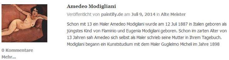 Die Biografie von Amedeo Modigliani auf dem paintify Blog.   Reproduktions-Gemälde von Amadeo Modigliani gibt es auf: https://www.paintify.de/de/kunstmarkt/alte-meister/amedeo-modigliani  #paintify #Biografie #Amedeo_Modigliani #Amedeo #Modigliani #Gemälde #Kunst #Reproduktionen #Reproduktion #Ölgemälde