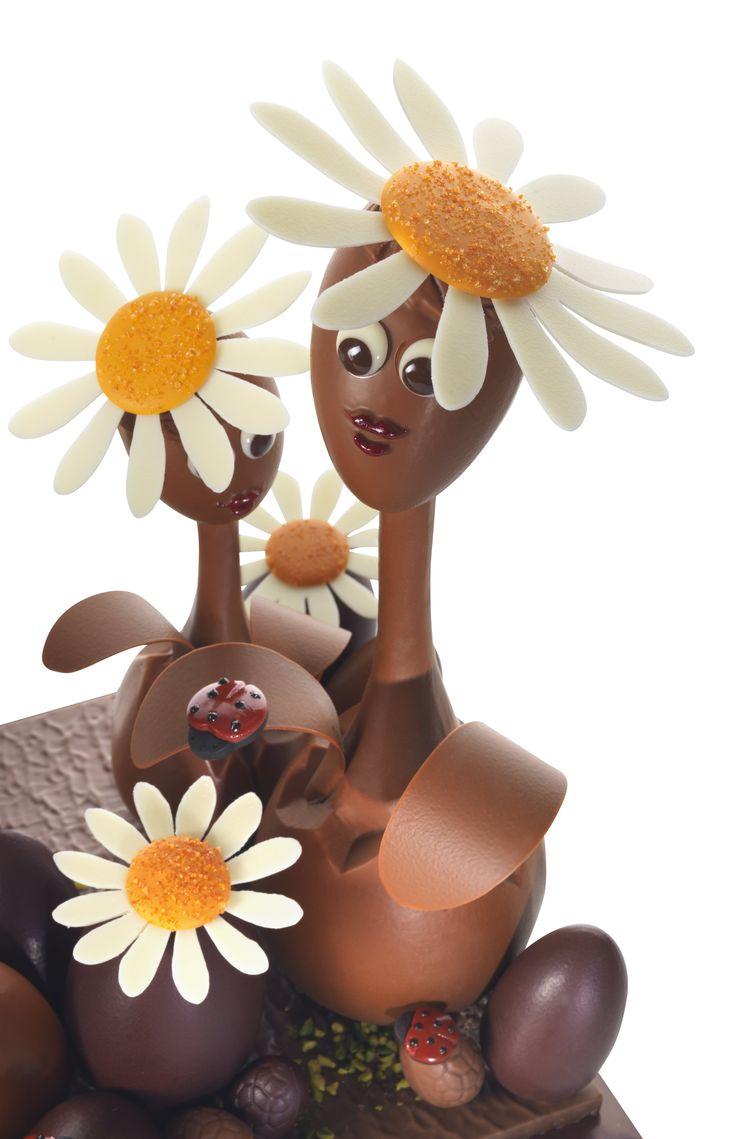 The Daisy Family by #NicolasCloiseau #lamaisonduchocolat #easter #chocolate #moulding